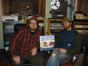 On the left is Ben Vehorn, who produced and recorded the album.  On the right is Audio Eagle Studio Manager Jeff France.   The picture was taken at Vehorn's Tangerine Sound in Akron, Ohio.  Audio Eagle also has a smaller studio in the same building.